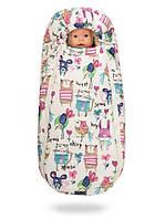 Уютный зимний конверт-кокон на овчине Baby XS