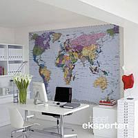 Komar 4-050 World Map Фотообои на стену «Карта Мира»