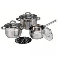 Набор посуды из нержавеющей стали 7 предметов Kamille 4151