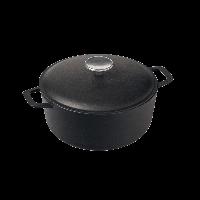 Кастрюля с металлической крышкой черного цвета (2 литра)