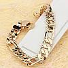 001-0503 - Широкий позолоченный браслет с лучиками плетение Картье, 22 см