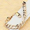 001-0505 - Позолоченный браслет плетение Сложное Картье с узором, 21 см