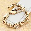 001-0506 - Позолоченный браслет плетение Тройное Кордовое, 17.5, 19, 20.5 см