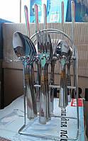 Набор столовых приборов на подставке с позолотой Empire ЕМ 8804