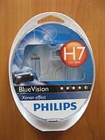 Галогенка H7 PHILIPS 12V 55W 12972BVUSM BlueVision