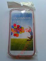 Чехол TPU для Samsung i9500/S4 Розовый
