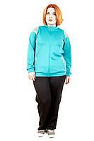 Спортивный костюм женский большого размера 213/140.2 (4 цвета), женский спортивный костюм для полных, недорого