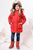 Детское пальто для девочки DT-8236