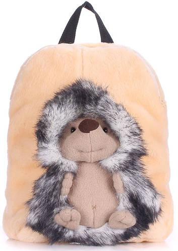 Мягкий детский рюкзак с ежиком  POOLPARTY kiddy-backpack-hedge-grey