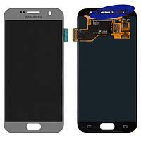Дисплей + touchscreen (сенсор) для Samsung Galaxy S7 G930F, оригинальный (серебристый)