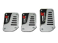 Накладки на педали KP-50 silver/black/white