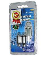 Колпачки ниппеля А-90106-B LED 2шт. алюминий синие