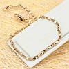 R9-0008 - Нежный браслет со снежинками Морское плетение Картье розовая позолота, 22 см