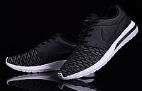 Кроссовки мужские Nike Roshe Run 3M Flyknit Black оригинал