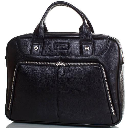 Дизайнерский портфель для мужчин из натуральной кожи KARYA (КАРИЯ) SHI0655-45FL черный
