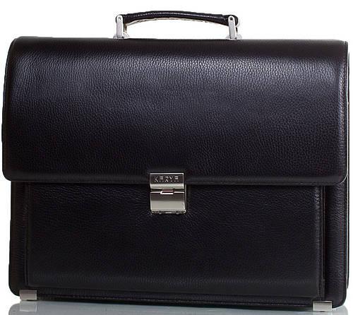 Деловой мужской портфель из натуральной кожи KARYA (КАРИЯ) SHI0144-45FL черный