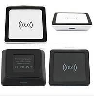 Беспроводное зарядное QI mini квадратное БЕЛОЕ SKU0000270