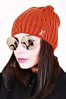 Зимняя женская шапка вязаная Адель 0024 (7 цв), женские шапки оптом, шапки от производителя, дропшиппинг