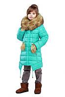 Детская зимняя куртка, отличное качество, мех песец, фабрика Харьков, Китти, 34,36,38,40,42