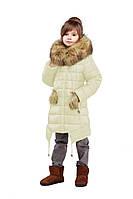 Детская зимняя куртка, отличное качество, мех песец, фабрика Харьков, Китти, 28,30,32,34,36,38