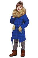Детская зимняя куртка, отличное качество, мех песец, фабрика Харьков, Китти, 28-36
