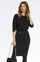 Женское модное платье черного цвета. Модель 220040 Enny, коллекция осень-зима 2016-2017.