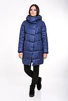Женская зимняя куртка прямого силуэта 203 джинс
