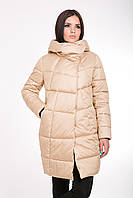 Женская зимняя куртка прямого силуэта 203 золотой
