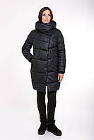 Женская зимняя куртка прямого силуэта 203 т.т.синий