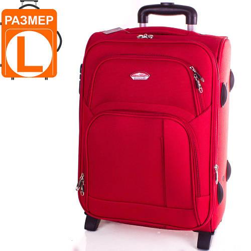 Яркий большой чемодан на 2-х колесах Suitcase (Сьюткейс) АPT001L-1 красный