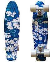 "Пенни борд 22"" Penny Style Flower Blue"