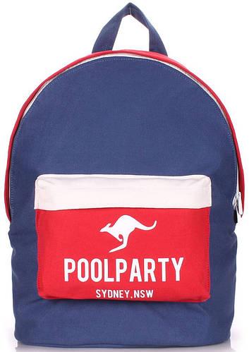 Качественный городской женский рюкзак на 6 л  POOLPARTY backpack-darkblue-red-white
