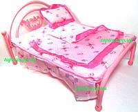 Кроватка для куклы, металлическая, большая 42см