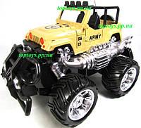 Машина на р/у Джип Военный Большие колёса,21см,акб