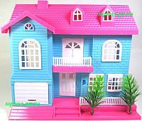 Домик для кукол, куколки, мебель, звук, свет