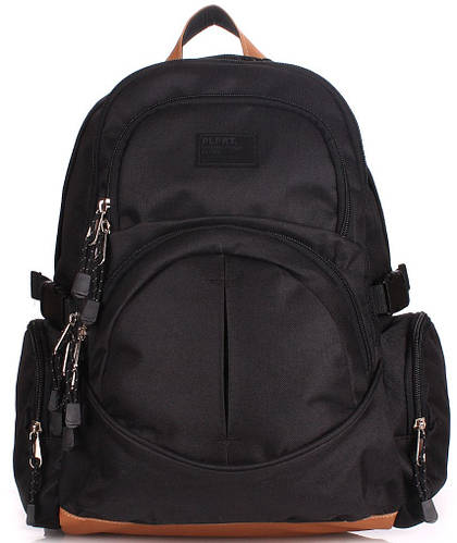 Молодежный вместительный черный рюкзак на 8 л  POOLPARTY big-pack-black
