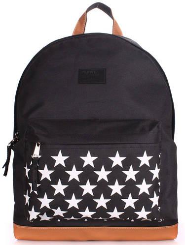 Красивый женский рюкзак на 7 л  POOLPARTY backpack-stars-black