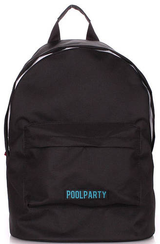 Практичный городской  рюкзак на 6 л  POOLPARTY eco-backpack-black