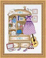Набор для вышивания крестом «Шкафчик для девочки» (1373)