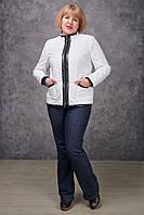 Демисезонная женская куртка NewMark Берта (белый, серый)