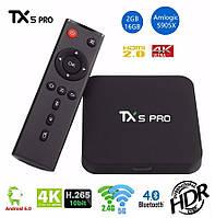 TX5 PRO - недорогая и мощная смарт ТВ приставка, Amlogic S905X, Ram 2Gb, Rom 16Gb, Android 6.0, 4K видео