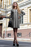 Спортивная туника-платье из трехнитки серого цвета