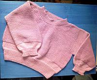 Теплый короткий свитер