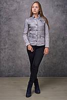 Демисезонная женская куртка NewMark Жаклин (белый, серый)
