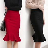 Стильная короткая юбка с завышенной талией