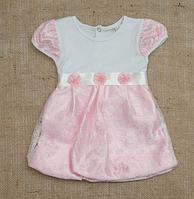 """Платье для девочки """"Фея"""" с коротким рукавом ТМ Бетис, интерлок"""