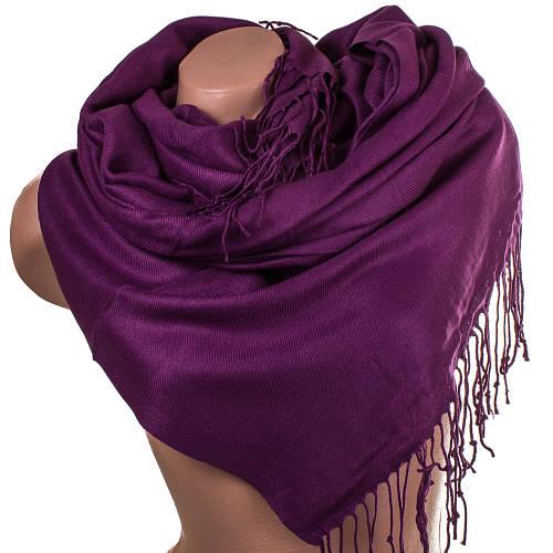 Оригинальный женский палантин из пашмины 173 на 79 см Zambak (Замбак) SAT12015 фиолетовый