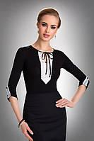 Женская нарядная блуза с белым кружевом. Модель Taylor Eldar.