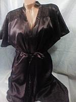 Женский ночной комплект халат из шелка 42-48 рр