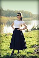 Элегантная юбка средней длинны